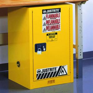 Justrite Sure-Grip EX 12 Gallon Compac Safety Cabinet - Self-Closing