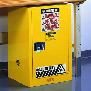 Justrite Sure-Grip EX 12 Gallon Compac Safety Cabinet - Manual Close