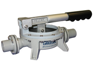 Bosworth Delrin GH-0400D Guzzler Horizontal Hand Pump w/ Aluminum Clamp Ring - 1/2 in. FNPT