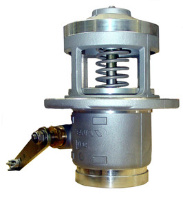 Emco Wheaton F7010 & F7011 4 in. Flanged Straight Mechanical Emergency Valve w/ PTFE Seal