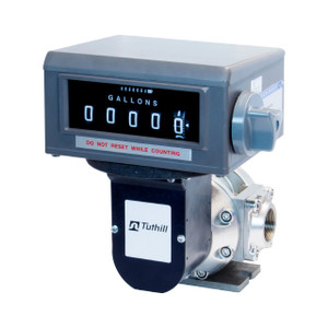 Tuthill TS Series 1 1/2 in. NPT Oval Gear Meter w/ Mechanical Register (1/10 Gal)