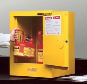 Justrite Sure-Grip EX 4 Gallon Countertop Safety Cabinet Self-Closing Door
