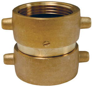 Dixon 1 1/2 in. NH(NST) x 1 1/2 in. NST(NH) Brass Pin Lug Double Female Swivel