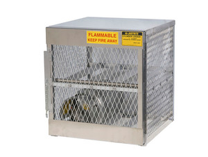 Aluminum LPG Cylinder Lockers Horizontal Storage - Four 20 or 33 lb