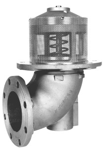 Emco Wheaton F7000 & F7001 4 in. Flanged 90° Elbow Mechanical Emergency Valve w/ Nitrile Rubber Seal