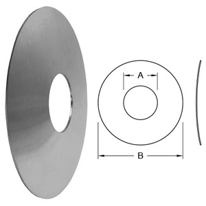 Dixon Sanitary Wall Flange - 6 in. - 6.00 in. - 10.00 in.