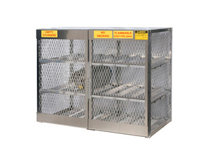 Aluminum LPG Cylinder Lockers Horizontal Storage - Twelve 20 or 33 lb
