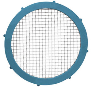 Rubber Fab 1 1/2 in. Platinum Silicon Metal Detectable Screen Camlock Gaskets - 200 Mesh