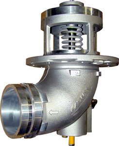 Emco Wheaton F7000 & F7001 4 in. Grooved 90° Elbow Mechanical Emergency Valve w/ Nitrile Rubber Seal