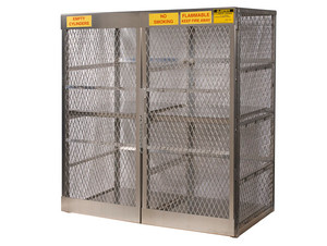 Aluminum LPG Cylinder Lockers Vertical Storage - Sixteen 20 or 33 lb