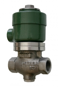 Morrison Bros. 710SS Series 1 1/2 in. Stainless Steel Anti-Siphon Solenoid Valves w/ PTFE Seal - Threaded