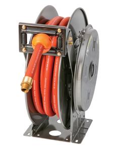 Hannay N800 Series Spring Rewind Fuel Hose Reel w/ BC Gas Hose - 3/4 in. x 50 ft.