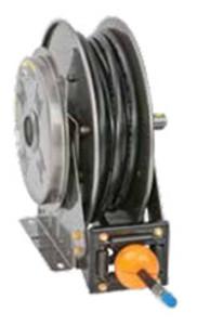 Hannay N700 Series High Pressure Spring Rewind Grease Reels - Includes Hose - 3/8 in. x 50 ft.