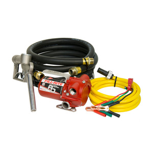 Fill-Rite RD Series 12V DC Portable Fuel Pump, 8 GPM, UL Listed - w/ Hose & Nozzle