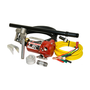 Fill-Rite RD Series 12V DC Portable Fuel Pump, 8 GPM, UL Listed - w/ Bung Mount Option, Hose & Nozzle