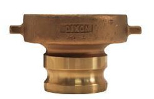 Dixon 3 in. Brass Cam & Groove Adapter x Tank Car Connection