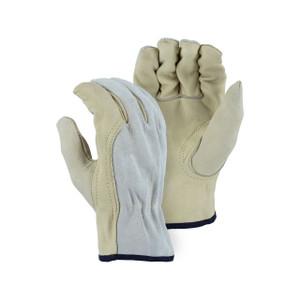 Majestic Combination Leather Driver Gloves - Small