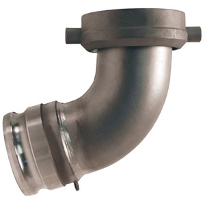Dixon Tank Car Elbows Part A Stainless Steel 4 in. Male Adapter x 5 in. Swivel Nut