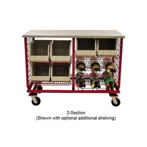 "Ready Rack 2-Section Worktable - 2-Section Worktable - 2 Flat & 2 V Shelves - 52 1/4"" x 25"" x 39 1/2"""