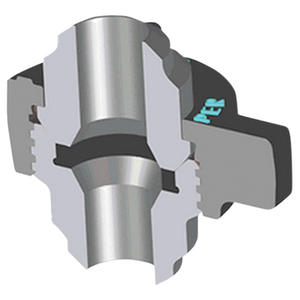 Kemper Valve Figure 602B Butt-Weld Hammer Unions - Schedule 160 - 1 in.