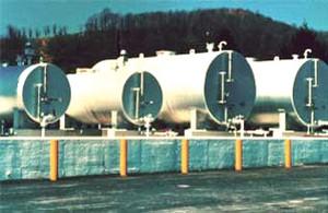 JME Tanks 1000 Gal 7 Gauge Double Wall Horizontal Tanks - 10 ft. 9 in. Long