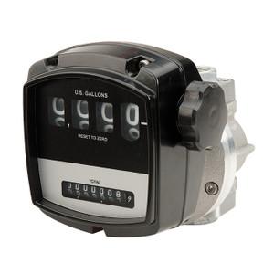 GPI Flomec OM Series 1/2 in. NPT Aluminum Mechanical Oval Gear Meter - Gallons