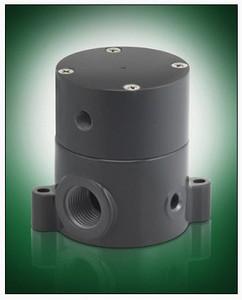 Plast-O-Matic Series BSDA 1/4 in. PVC Air Operated Valves w/ PTFE, Viton Seals