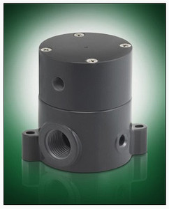 Plast-O-Matic Series BSDA 1/4 in. Poly Air Operated Valves w/ PTFE, Viton Seals