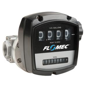 GPI Flomec OM Series 2 in. NPT Aluminum Mechanical Oval Gear Meter - Gallons