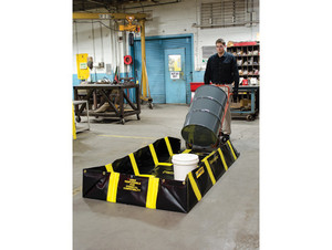 Justrite QuickBerm Containment Berm - 1910 Gallons - 16 ft x 16 ft x 12 in