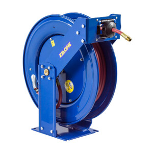 Coxreels EZ-Coil T Series Supreme Duty Truck Mount Grease Hose Reel - Reel & Hose - 1/4 in. x 75 ft.