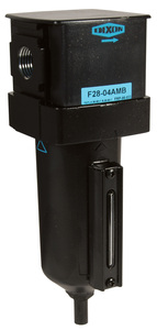 Dixon Wilkerson 1/2 in. F18 Compact Filter with Metal Bowl & Sight Glass - Manual Drain - 145 SCFM