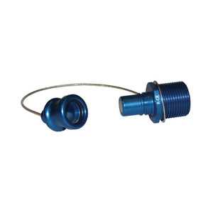 Dixon R-Series Teal Coolant Receiver Cap - --- - --- - R-Series Coolant Receiver Cap - ---