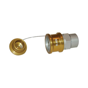 Dixon R-Series 1 in. NPT Gold Hydraulic Oil Nozzle w/ Plug