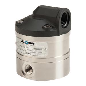 GPI Flomec OM Series 008 3/8 in. Aluminum Oval Gear Pulse Meter w/ Viton Seals