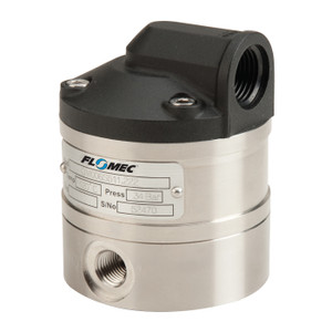 GPI Flomec OM Series 008 3/8 in. Stainless Steel Oval Gear Pulse Meter w/ PTFE/Viton Seals