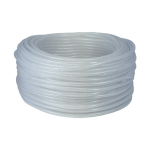 Dixon 1 in. ID x 1 5/16 in. OD Imported Clear Braided PVC Tubing, 71 PSI - 200 ft.