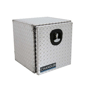 Chandler Equipment Aluminum Tread Plate Underbody Toolbox w/ Single Latch Door - 18x18x18