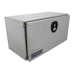 Chandler Equipment Aluminum Tread Plate Underbody Toolbox w/ Single Latch Door - 36x18x18