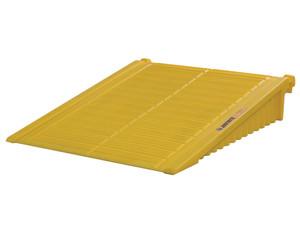 Justrite EcoPolyBlend DrumSheds Yellow Ramp