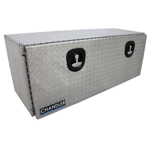 Chandler Equipment Aluminum Tread Plate Underbody Toolbox w/ Drop Down Door w/ Double Latch - 48x18x18