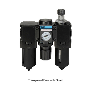 Wilkerson C08 Miniature Combo Unit with Transparent Bowl & Guard - Manual Drain