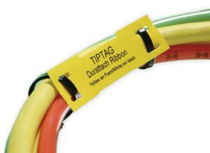 "HellermannTyton TipTag Cable Markers - 3.54"" x 0.50"" - 3.54"" x 0.40"" - 500/PKG"