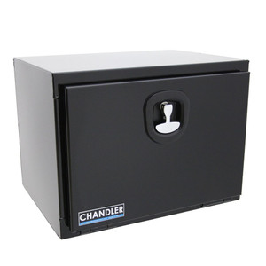 Chandler Equipment Powder Coated Carbon Steel Underbody Tool Box w/ Single Latch Door - 24x18x18