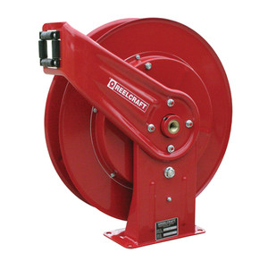 """Reelcraft Series 7000 Heavy Duty Grease Hose Reel - Reel Only - 3/8"""" x 50'"""