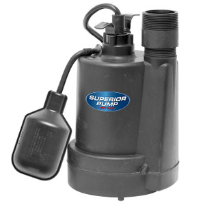 Decko 92255 1/4 HP Thermoplastic Sump Pump with Tethered Float Switch - 30 GPM
