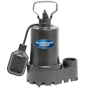 Decko 92251 1/4 HP Cast Iron Sump Pump with Tethered Float Switch - 30 GPM