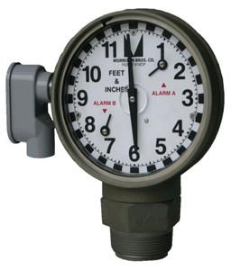 Morrison Bros. 2 in. Male NPT 918DP Dual Point Clock Gauge w/ Drop Tube Float