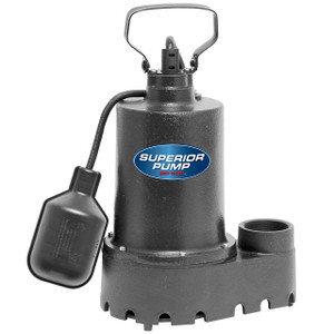 Decko 92337 1/3 HP Cast Iron Sump Pump with Tethered Float Switch - 46 GPM
