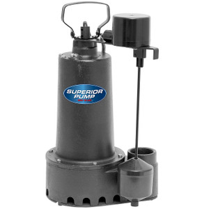 Decko 92511 1/2 HP Cast Iron Sump Pump with Vertical Float Switch - 70 GPM